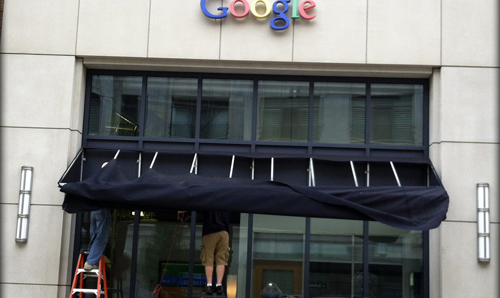 belle isle awning installation for google building